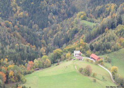 63 koča 'Steirer Jokl' - pogled v dolino, 12.09