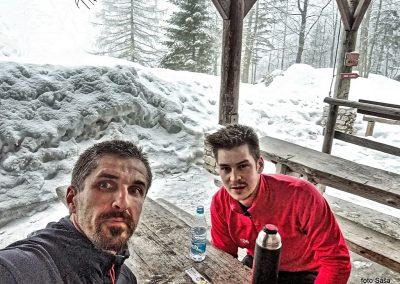 Zimski vzpon na Tursko goro, Saša in Blaž, 14.januar 2018