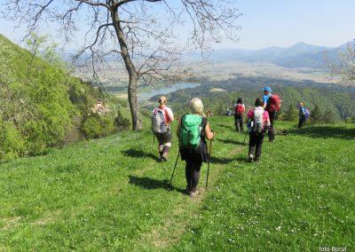 53 sestop proti Žovneku, razgled pod kmetijo Brezovnik - Celjska kotlina, 740m, 14.34