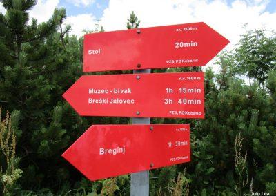 066 zapustimo greben v smeri Breginja, 1600m, 12.50