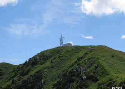 24 ni več daleč; pogled na Stol z vrha grebena, 11.33