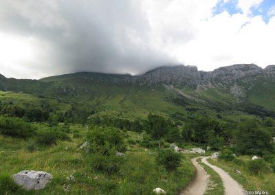 41 planina Kuhinja, Krn v oblakih, 17.45