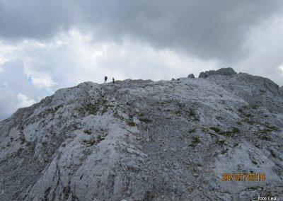 101 vzpon po grebenski poti na Rjavino, oblaki se zbirajo, 15.02