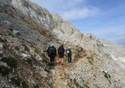 179 po melišču na greben med Ržjo in Kredatico, 7.58