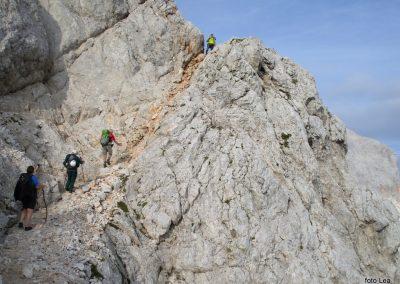 181 nekoliko izpostavljen del poti na greben med Kredarico in Ržjo, 7.59