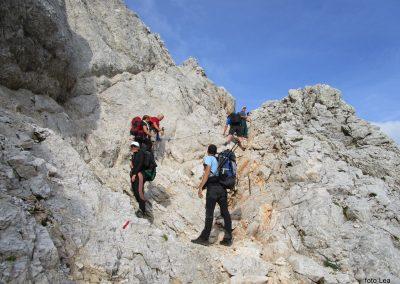 183 nekoliko izpostavljen del poti na greben med Kredarico in Ržjo, 8.04