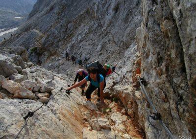 184 nekoliko izpostavljen del poti na greben med Kredarico in Ržjo, 8.05