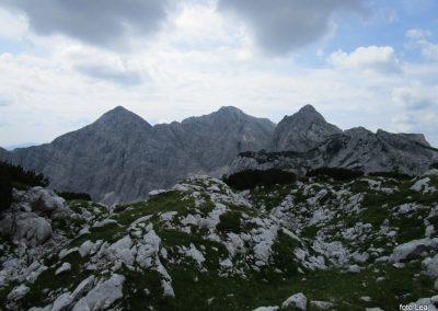 238 od leve, Veliki Draški vrh - 2240m , Tosc - 2273m in Vernar - 2220m, 11.12