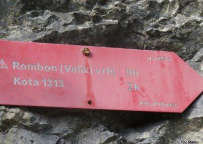 05 ta del poti je tudi začetek poti na Rombon, 9.27