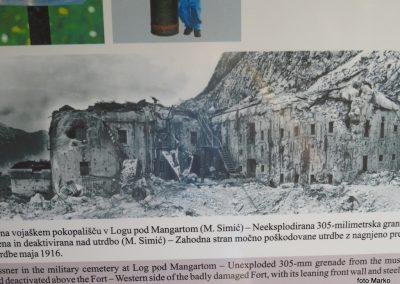 20 trdnjava Fort Herman po bombnem napadu
