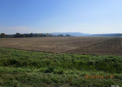 53 na poti od Dolge vasi do Velike Polane, pogled nazaj na Lendavske gorice, 11.36