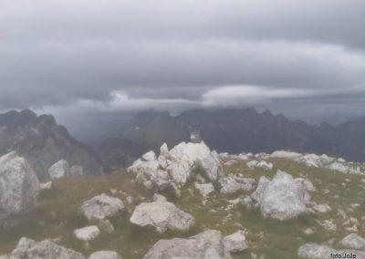 09 na vrhu Rombona- 2208m, pogled na sever - Jerebica 2126m, 11.02