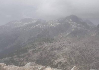 11 na vrhu Rombona, 2208m, Kanin v oblakih, 11.02