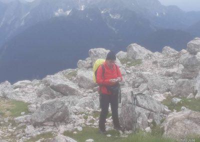 14 na vrhu Rombona, 2208m, 11.03