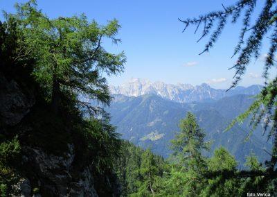 08 RADUHA PO ZAVAROVANI, na poti od Grohata proti vznožju stene - pogled na Savinjske Alpe, 11.22