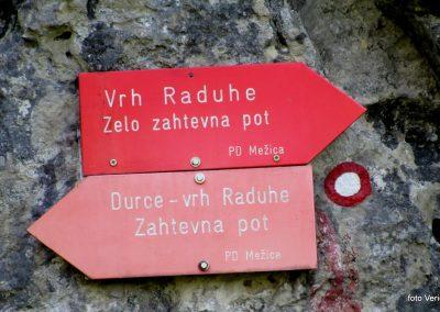 31 RADUHA PO ZAVAROVANI, na poti z vrha proti Grohatu, 14.58