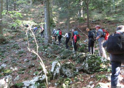 16 SLJEME, vzpon proti planinskemu domu na Hunjki - 'Horvatove stube', 10.26