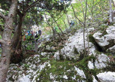 22 SLJEME, vzpon proti planinskemu domu na Hunjki - 'Horvatove stube', 10.30