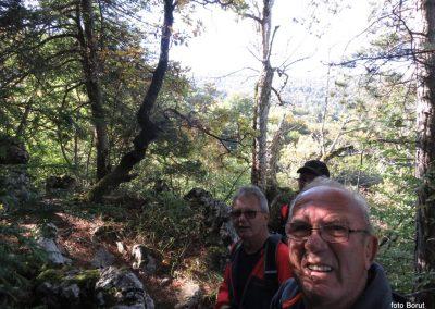 27 SLJEME, vzpon proti planinskemu domu na Hunjki - 'Horvatove stube', 10.36