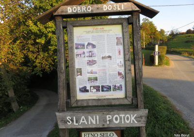 91 SLJEME, v vasi Slani potok, kjer končamo turo, 17.41